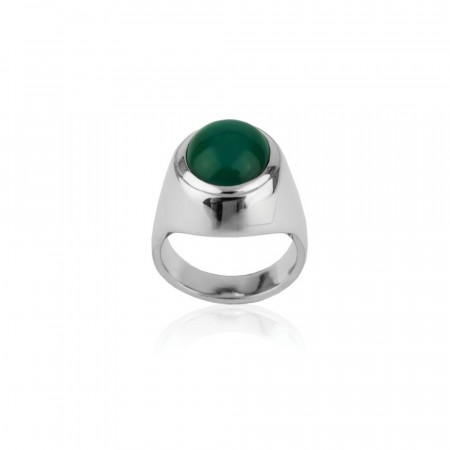 Green Agat Ring
